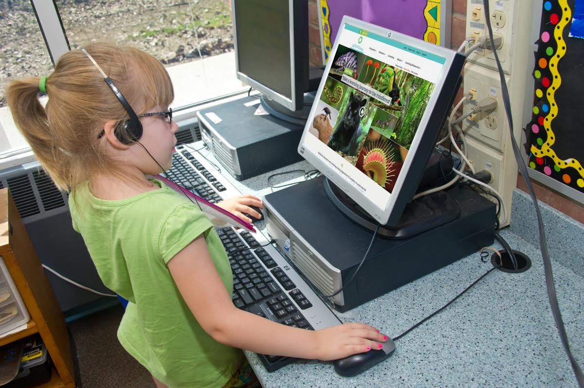Student Using Rainforest Journey in Classroom