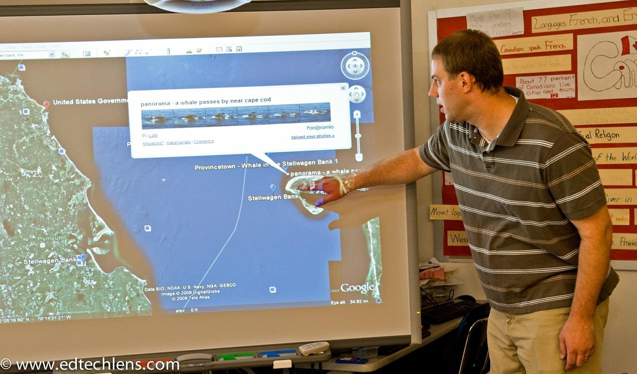 Teacher Guiding Virtual Field Trip Websites for Classroom Science EdTech